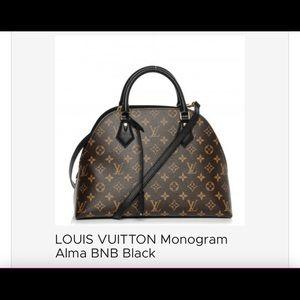 Louis Vuitton Monogram Alma BNB Black Bag